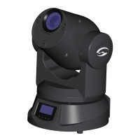 Mini Beam Moving Head with 1 25W LED White Soundsation MHL-MINI-BEAM-W