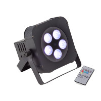 Battery powered 5x18W RGBWA+UV 6in1 LED PAR Soundsation PAR-18W-5-B