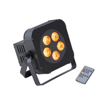 Battery powered 5x10W RGBW 4in1 LED PAR with wireless DMX Soundsation PAR-10W-5-BW