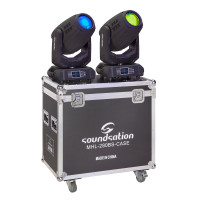 Set of 2 Beam&Spot Moving Heads 280W standard 10R lamp and flight case Soundsation MHL-280BS SET