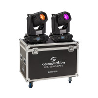 Set of 2 Beam&Spot Moving Heads 350W standard 17R lamp and flight case Soundsation MHL-350BS SET